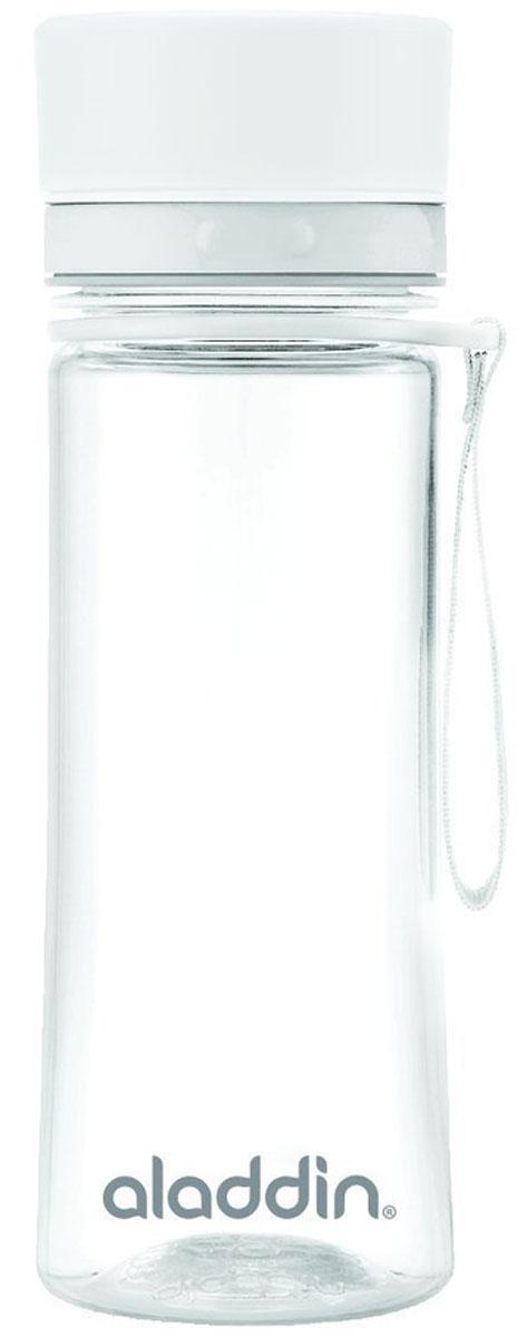 Бутылка для воды Aladdin Aveo, цвет: белый, 0,35 л10-01101-090Стильная бутылка для воды Aladdin Aveo изготовленаиз материала Tritan, не сохраняющего запахи, не взаимодействующего снапитками при повышении температуры. Изделие оснащено крышкой,которая плотно и герметично закрывается.Употребление достаточного количества жидкости -важнаячасть спортивного режима. Благодаря эргономичнойформеэту бутылку удобно носить в руках.Можно мыть в посудомоечной машине.