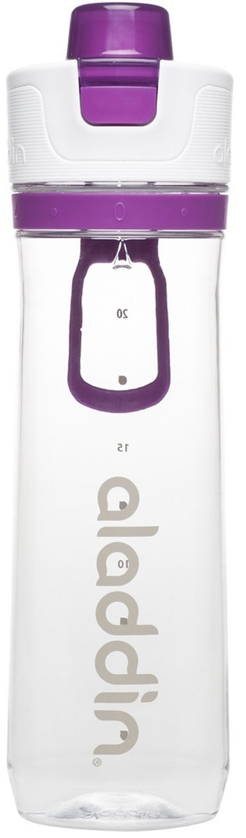 Бутылка для воды Aladdin Active, цвет: фиолетовый, 800 мл бутылка для воды sistema hydrate трио цвет фиолетовый 480 мл 820