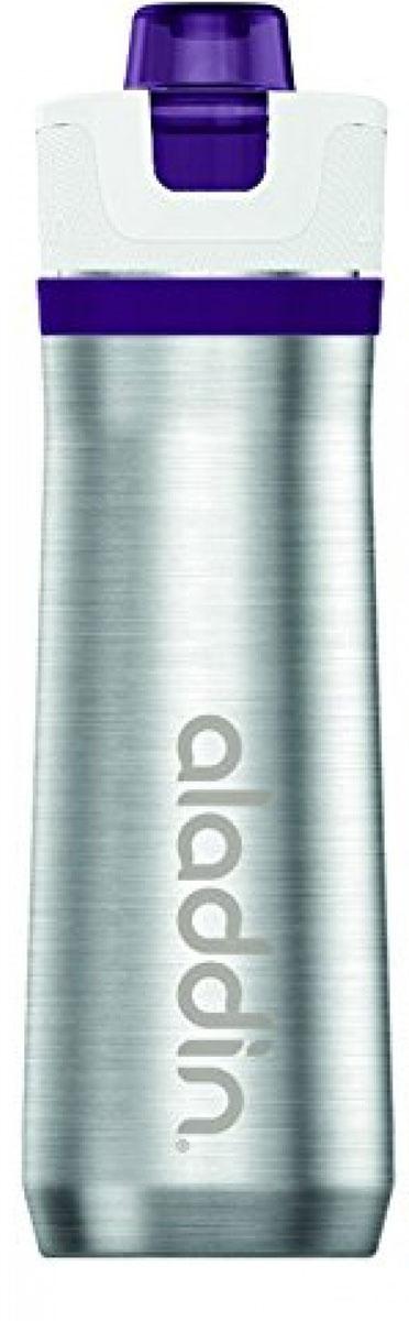Бутылка для воды Aladdin Active, цвет: фиолетовый, 600 мл aladdin level 5