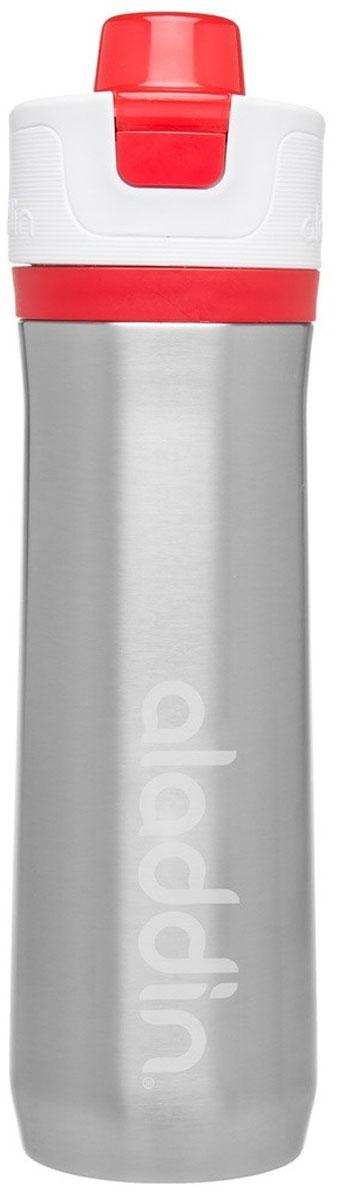 Бутылка для воды Aladdin Active, цвет: красный, 0,6 л10-02674-003Стильная бутылка для воды Aladdin Active, изготовленнаяиз нержавеющей стали, оснащена крышкой,котораяплотно и герметично закрывается.Употребление достаточного количества жидкости -важнаячасть спортивного режима. Благодаря эргономичнойформеэту бутылку удобно носить в руках.Можно мыть в посудомоечной машине.