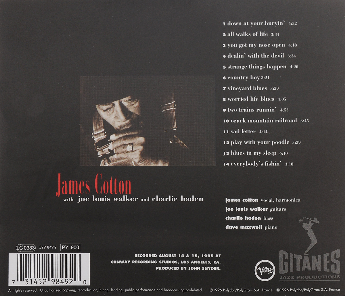 James Cotton.  Deep In The Blues Polydor France,ООО