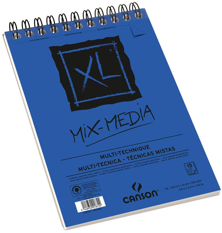 Canson Альбом для смешанных техник Xl Mix-Media 14,8 х 21 см 15 листов - Бумага и картон