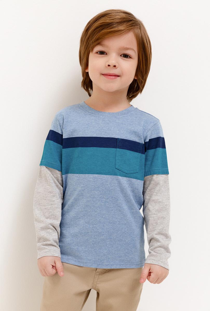 Джемпер для мальчика Acoola, цвет: голубой. 20120100129_400. Размер 116 джемпер для девочки acoola kapuas цвет белый голубой 20210100173 4400 размер 140
