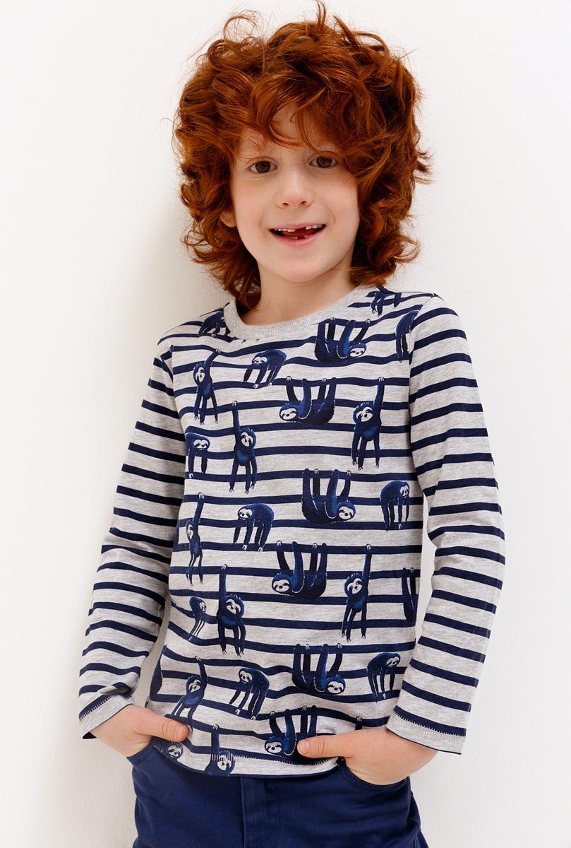 Футболка с длинным рукавом для мальчика Acoola, цвет: разноцветный. 20120100130_9000. Размер 98 футболка с длинным рукавом для мальчика let s go цвет красный 6220 размер 98
