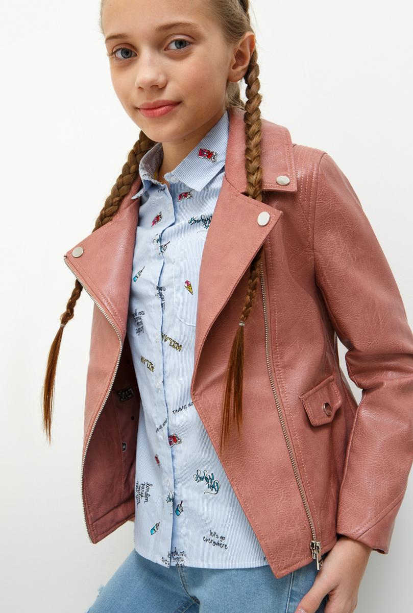 Куртка для девочки Acoola, цвет: светло-розовый. 20210130128_3400. Размер 14620210130128_3400
