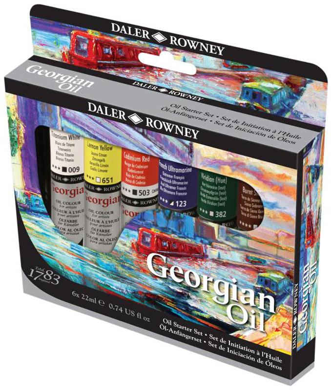 Daler Rowney Набор масляных красок Georgian Starter Set 6 цветов 22 мл -  Краски