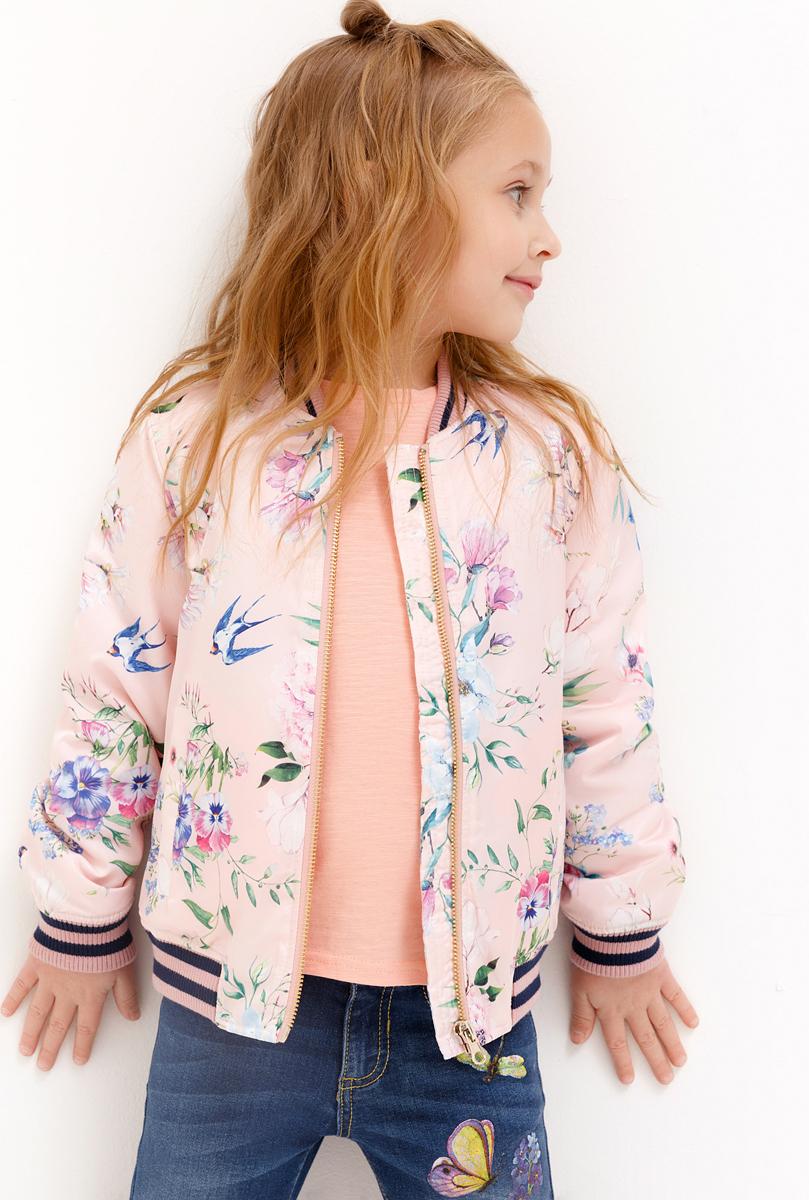 Куртка для девочки Acoola, цвет: светло-розовый. 20220130131_3400. Размер 9820220130131_3400