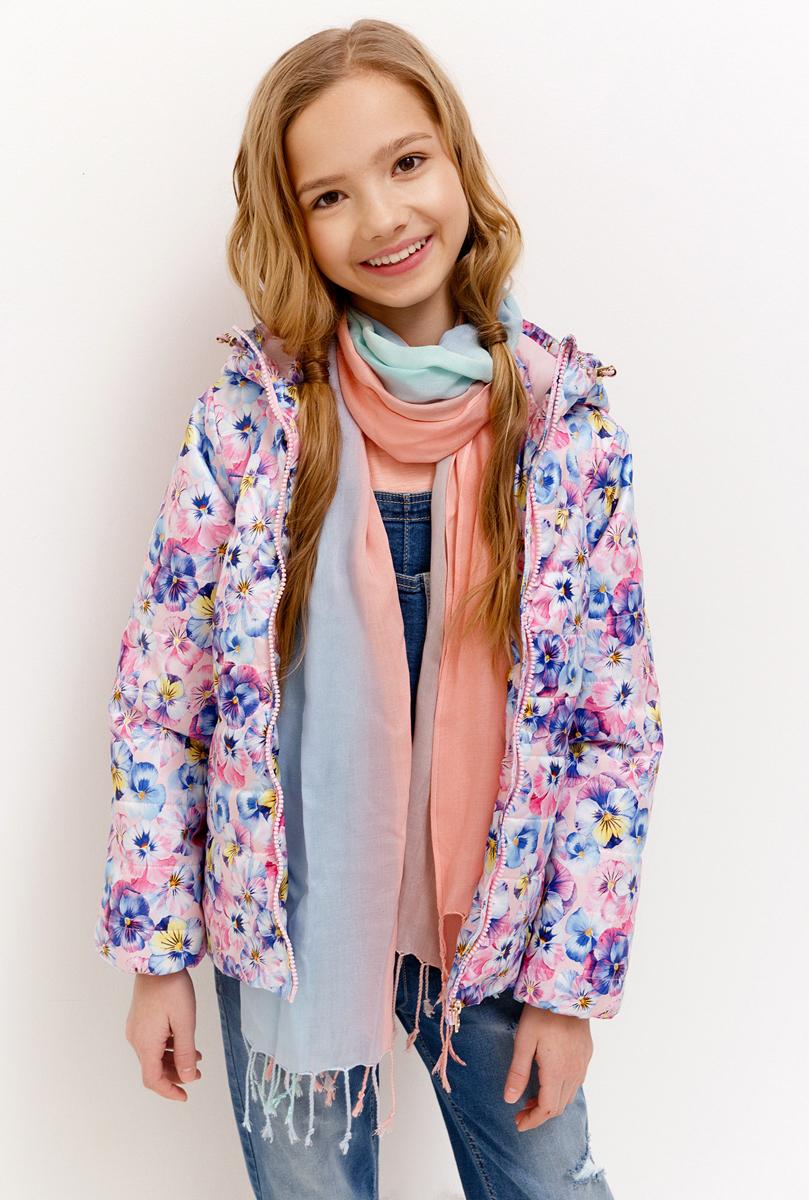 Куртка для девочки Acoola, цвет: светло-фиолетовый. 20210130136_1700. Размер 16420210130136_1700Куртка для девочки Acoola выполнена из полиэстера. Модель с капюшоном и длинными рукавами застегивается на молнию. Спереди изделие дополнено двумя прорезными карманами.