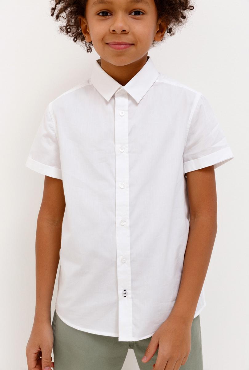 Фото Рубашка для мальчика Acoola, цвет: белый. 20110290028_200. Размер 158
