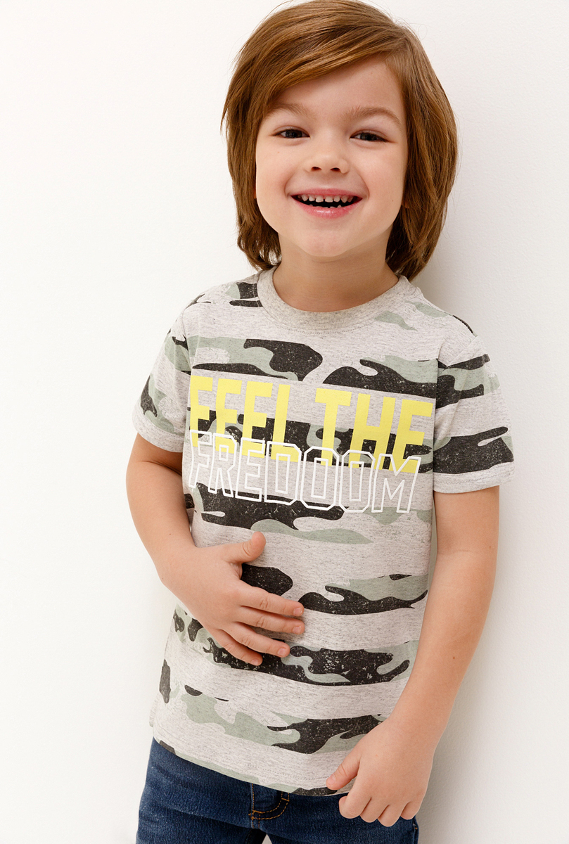 Футболка для мальчика Acoola, цвет: серый. 20120110093_1900. Размер 92 футболка для мальчика acoola silva цвет мультиколор 20120110094 9000 размер 116