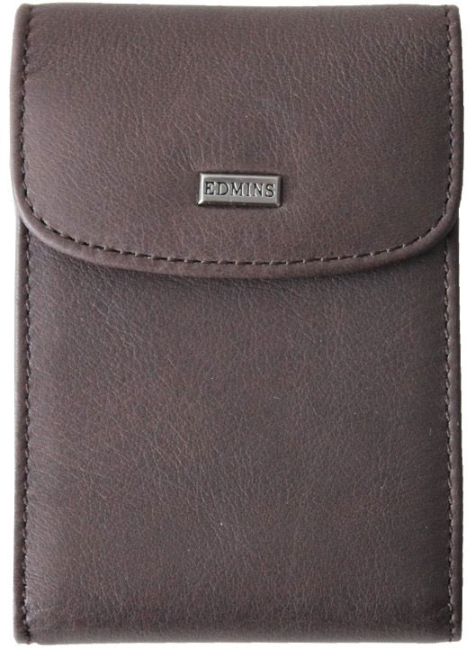 Визитница женская Edmins, цвет: серый. 1703-S-ML-ED/1N fumo обложка для паспорта edmins цвет коричневый 13843 1n sof ed