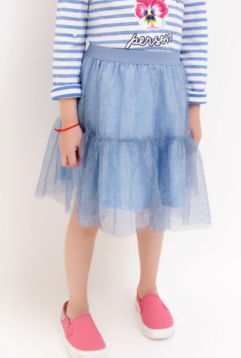 Юбка для девочки Acoola, цвет: голубой. 20220180067_400. Размер 11020220180067_400