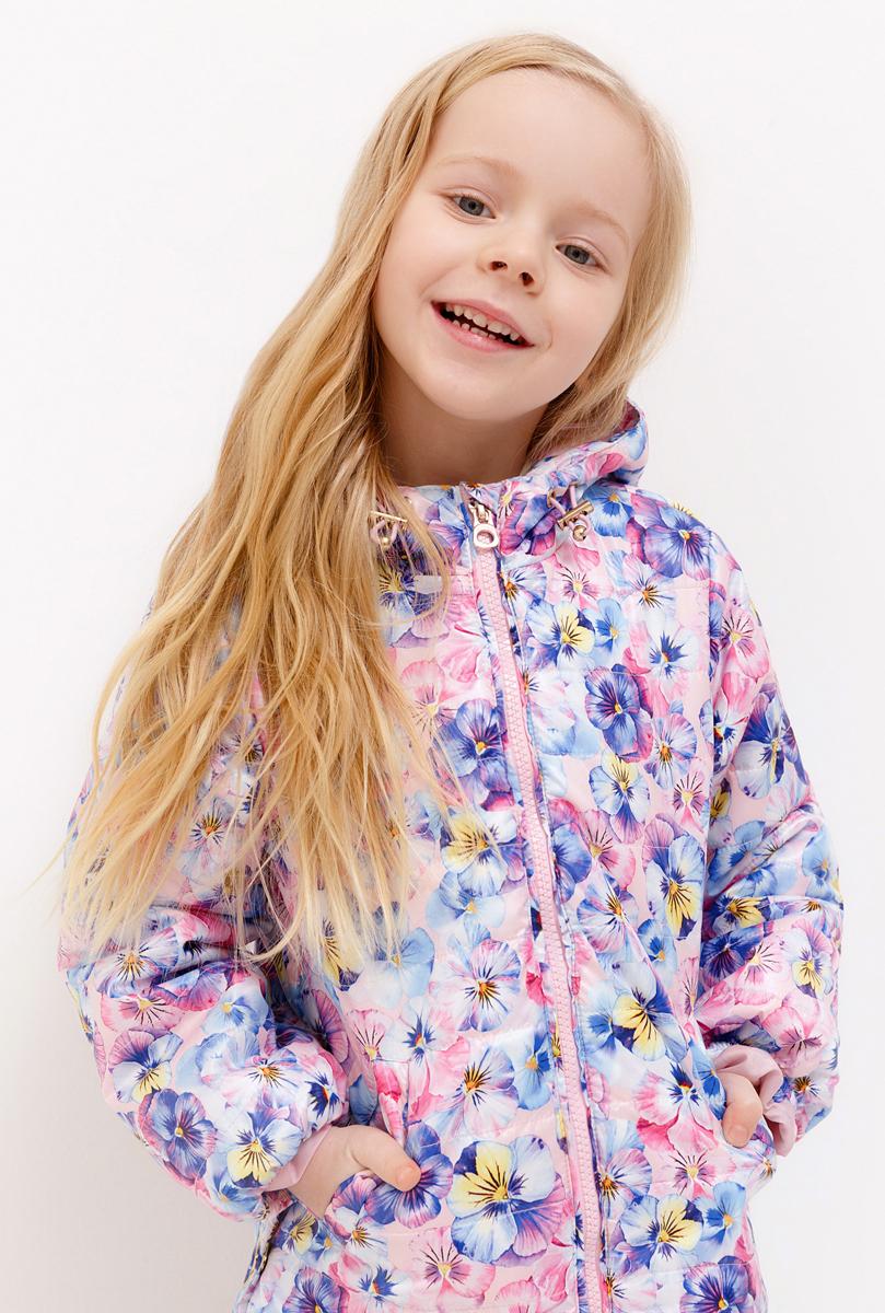 Куртка для девочки Acoola, цвет: светло-фиолетовый. 20220130132_1700. Размер 12820220130132_1700Куртка для девочки Acoola выполнена из полиэстера. Модель с капюшоном и длинными рукавами застегивается на застежку-молнию. Спереди изделие дополнено двумя прорезными карманами.
