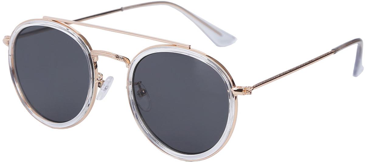 Очки солнцезащитные женские Fabretti, цвет: золотистый, прозрачный. E282116-2