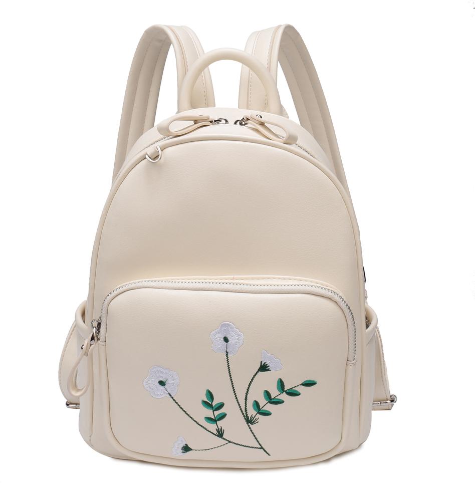 Рюкзак женский OrsOro, цвет: белый, 22 x 28 x 13 см. DS-850/3
