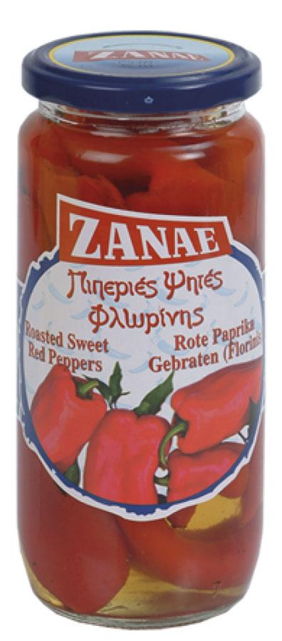 Zanae перец Алорина красный печеный, 450 г delser крекеры с розмарином и оливковым маслом