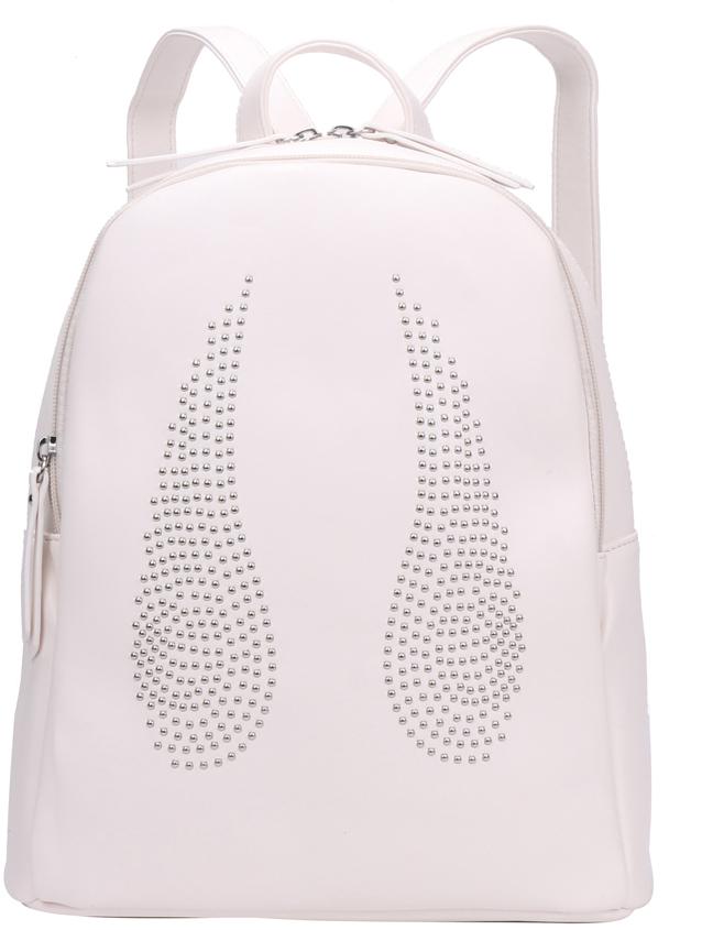 Рюкзак женский OrsOro, цвет: белый, 28 x 32 x 13 см. DS-841/5