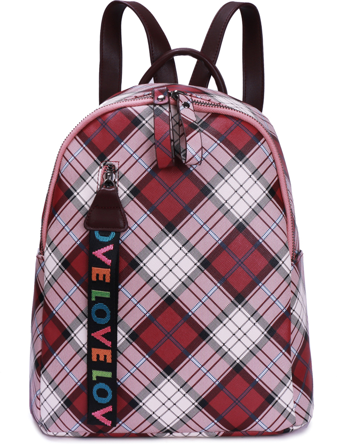 Рюкзак женский OrsOro, цвет: бордовый, 28 x 31,5 x 12 см. DS-877/3