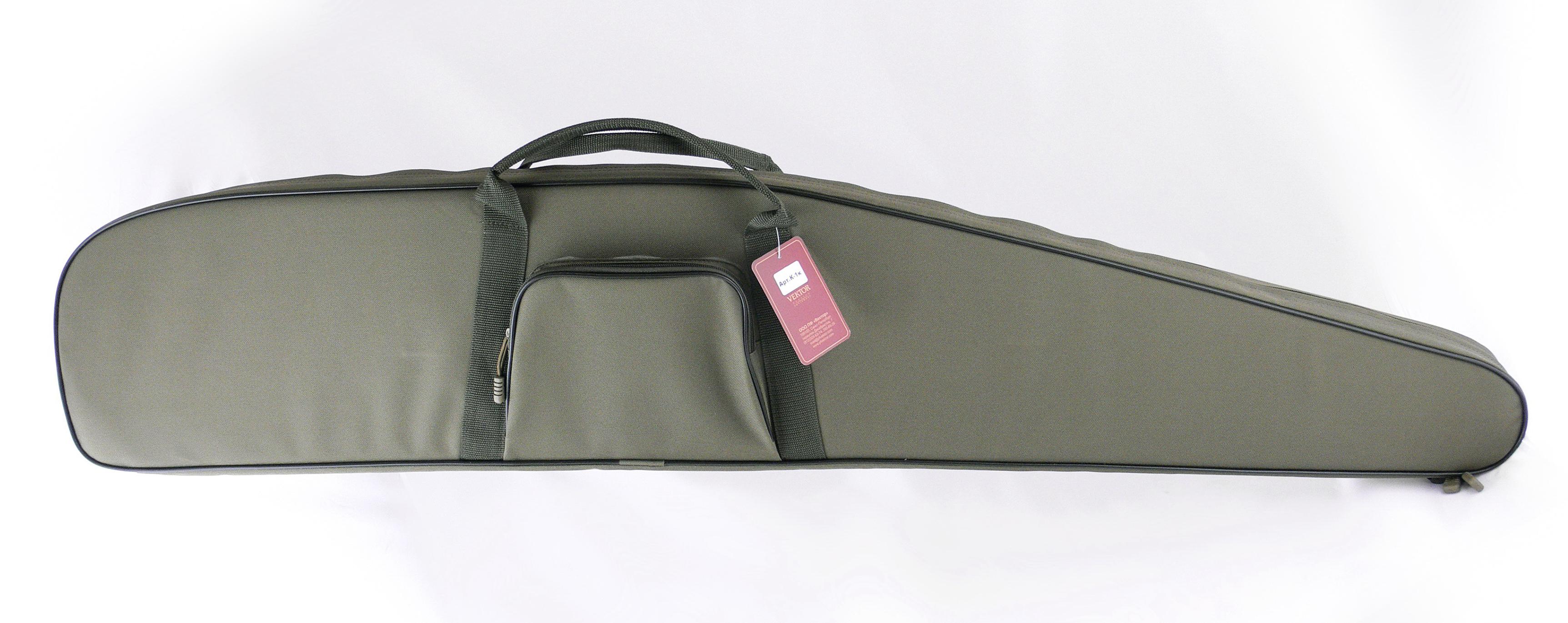 """Чехол для винтовки """"Vektor"""", цвет: зеленый, с оптическим прицелом, длина 134 см"""