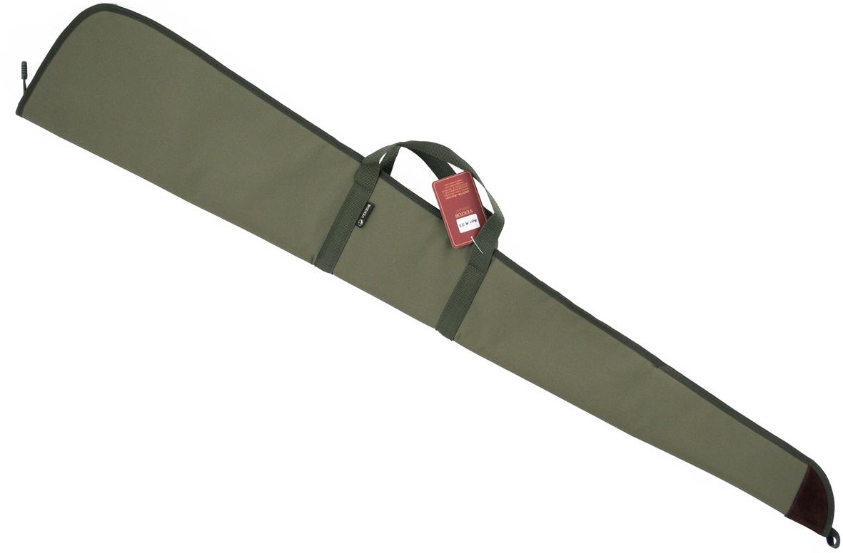 Чехол для оружия Vektor, цвет: зеленый, длина 130 смК-23Чехол из капрона, рекомендован для хранения и транспортировки МР-153 и аналогов. Чехол закрывается на молнию с одним замком. Изготовлен с подкладкой из смесового материала. С одной стороны находится регулируемый ремень, который позволяет переносить чехол не только за ручки в горизонтальном положении, но и на одном плече вертикально. Также на чехле имеется специальная петля, которую удобно использовать при хранении чехла, подвешивая его. Длина внешняя 130 см, внутренняя 127 см. Компания ВЕКТОР уже много лет занимается разработкой и производством самого разного снаряжения для охотников, военных и сотрудников силовых структур. При этом используется самое современное оборудование и материалы, в цехах работают увлечённые и квалифицированные специалисты. Компания постоянно развивается и растет.