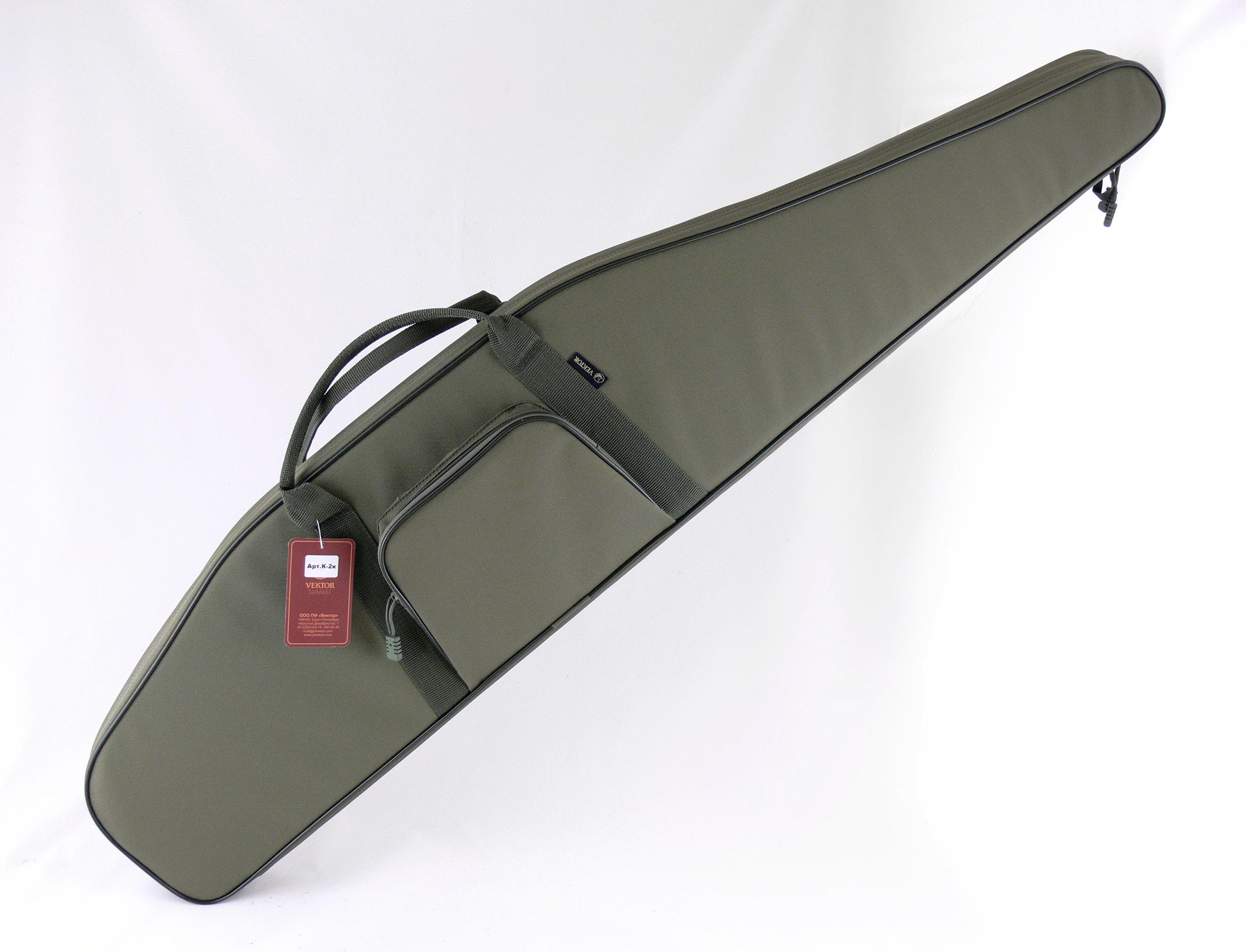 Чехол для винтовки Vektor, цвет: зеленый, с оптическим прицелом, длина 125 см. К-2к