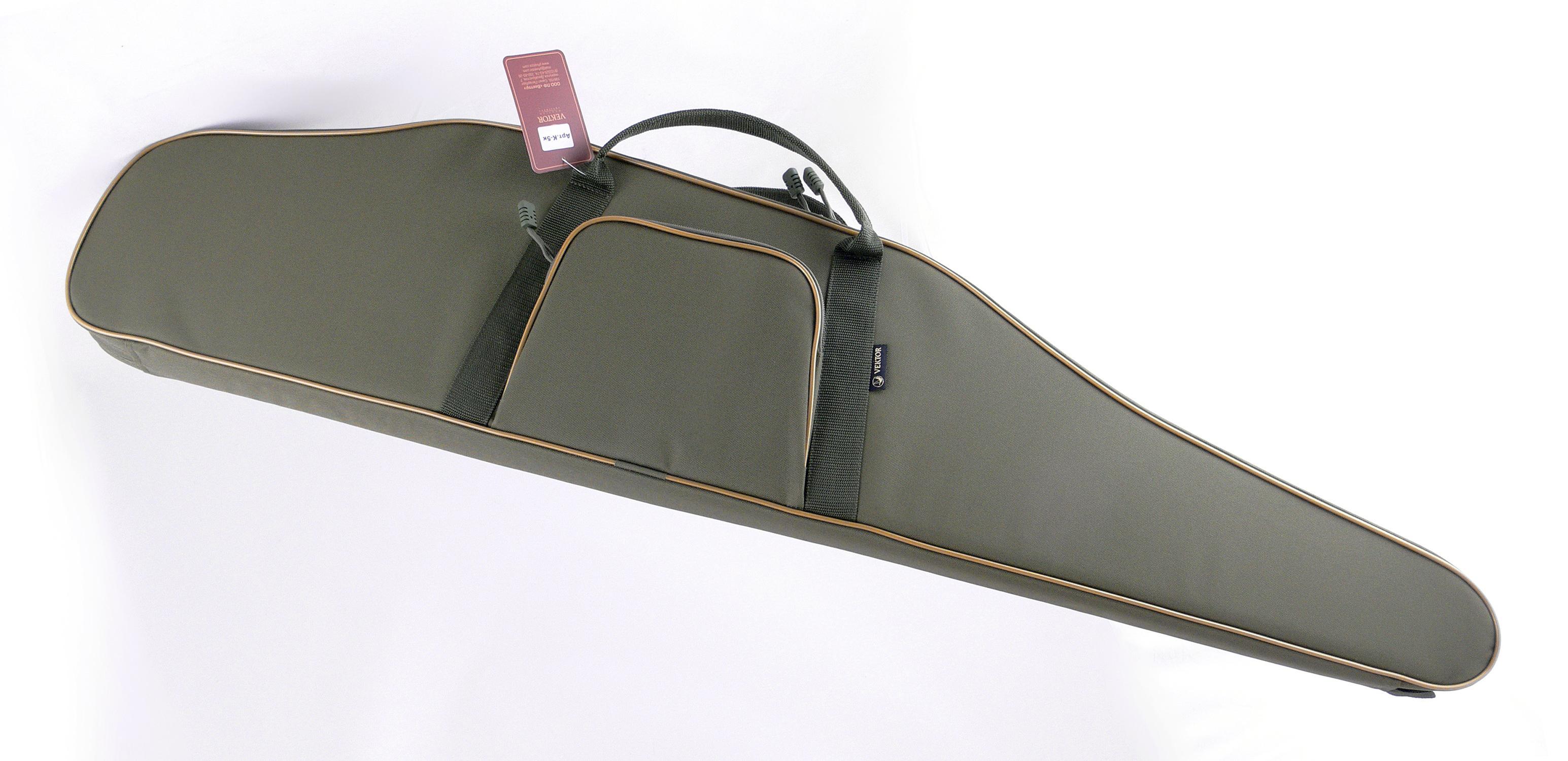 Чехол для винтовки Vektor, цвет: зеленый, с оптическим прицелом, длина 118 см. К-5к