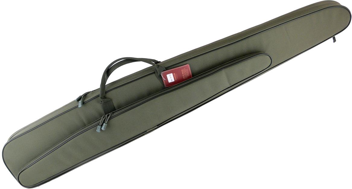 Чехол для полуавтоматического ружья Vektor, с карманом под дополнительный ствол, цвет: зеленый, длина 137 см