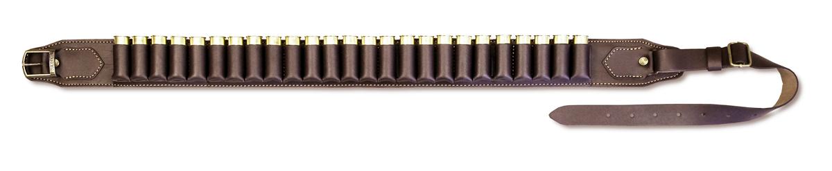 Патронташ открытый Vektor, цвет: коричневый, на 25 патроновП-41Патронташ из из натуральной кожи, для гладкоствольных патронов, открытый, на 25 патронов 12, 16 и 20 калибра. Приспособлен для ношения на поясе стрелка, то есть в положении, удобном для быстрого извлечения патронов. Длина регулируется двумя металлическими пряжками. Материал патронташа натуральная кожа. Подкладка из натуральной замши обладает нескользящими свойствами. Конструкция укреплена заклепками. Изделие прошито прочными лавсановыми нитями.Длина пояса регулируется от 90 до 130 см. Ширина поясного ремня 30 мм.Компания ВЕКТОР уже много лет занимается разработкой и производством самого разного снаряжения для охотников, военных и сотрудников силовых структур. При этом используется самое современное оборудование и материалы, в цехах работают увлечённые и квалифицированные специалисты. Компания постоянно развивается и растет. П-42Вектор П-42 — закрытый патронташ из натуральной кожи на 25 патронов 12, 16 или 20 калибра. Условно патронташ разделен на 5 подсумков, по пять патронов в каждом, закрытых клапаном. Клапаны защищают патроны от воздействия атмосферных осадков и механических повреждений. Подсумки закрываются на кобурную кнопку, что обеспечивает быстрый доступ к патронам.Технические характеристики патронташа Вектор П-42: • Тип патронташа — закрытый.• Материал — натуральная кожа с пропиткой.• Калибр патронов — 20, 16 или 12.• Диапазон регулировки — от 90 до 120 см. Компания ВЕКТОР уже много лет занимается разработкой и производством самого разного снаряжения для охотников, военных и сотрудников силовых структур. При этом используется самое современное оборудование и материалы, в цехах работают увлечённые и квалифицированные специалисты. Компания постоянно развивается и растет.