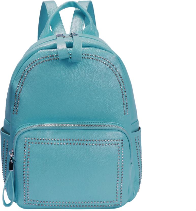 Рюкзак женский OrsOro, цвет: голубой, 23 x 28 x 11 см. DS-876/4