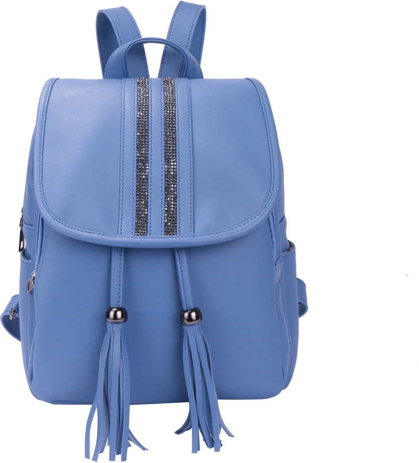Рюкзак женский OrsOro, цвет: голубой, 26 x 33 x 14 см. DS-875/2