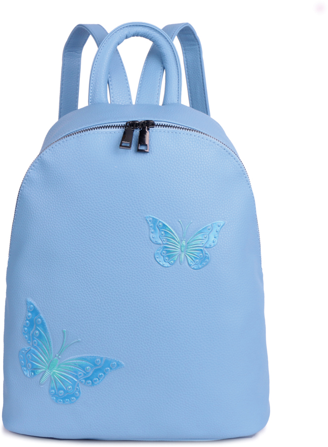 Рюкзак женский OrsOro, цвет: голубой, 33 x 35 x 15 см. DS-854/3