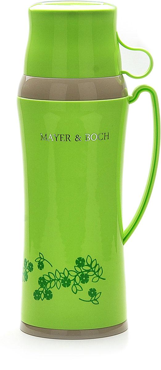 Термос Mayer & Boch, с 2 чашками, 1 л. 22600-1, цвет: салатовый, серый, 1 л. 22600-1