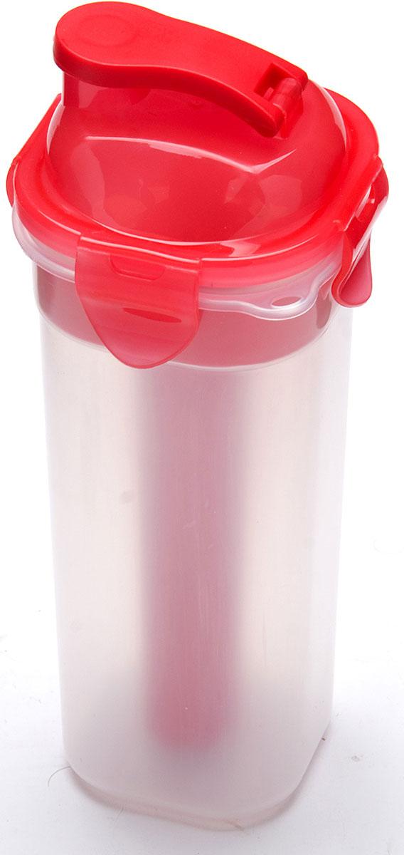 Бутылка Mayer & Boch, с емкостью для льда, цвет: красный, 450 мл. 27099