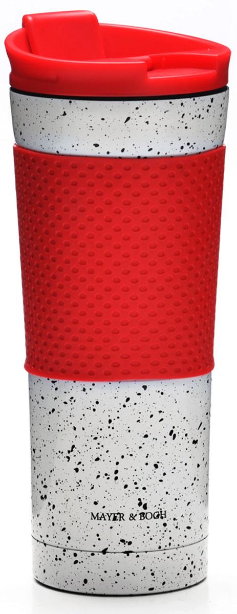 Термокружка Mayer & Boch, 470 мл. 27490, цвет: белый, красный, 470 мл. 2749027490Термокружка Mayer & Boch изготовлена из нержавеющей стали, не содержащей токсичных веществ. Двойные стенки дольше сохраняют напиток горячим и не обжигают руки. Надежная крышка с защитой от проливания обеспечит дополнительную безопасность. Крышка оснащена клапаном для питья. Основание имеет силиконовую вставку для предотвращения скольжения по поверхности. Оптимальный объем термокружки позволит взять с собой большую порцию горячего кофе или чая. Идеально подходит как для горячих, так и для холодных напитков. Такая кружка может быть использована во время отдыха, на работе, в путешествии, во время поездок в автомобиле. Корпус: нержавеющая сталь, термопластик. Внутренний резервуар: нержавеющая сталь.Крышка: полипропилен.
