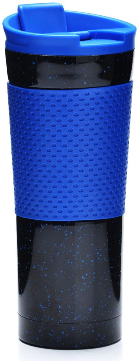 """Термокружка """"Mayer & Boch"""" изготовлена из нержавеющей стали и термопластика, не содержащих токсичных веществ. Двойные стенки дольше сохраняют напиток горячим и не обжигают руки. Надежная крышка с защитой от проливания обеспечит дополнительную безопасность. Крышка оснащена клапаном для питья. Основание имеет силиконовую вставку для предотвращения скольжения по поверхности. Оптимальный объем термокружки позволит взять с собой большую порцию горячего кофе или чая. Идеально подходит как для горячих, так и для холодных напитков. Такая кружка может быть использована во время отдыха, на работе, в путешествии, во время поездок в автомобиле."""