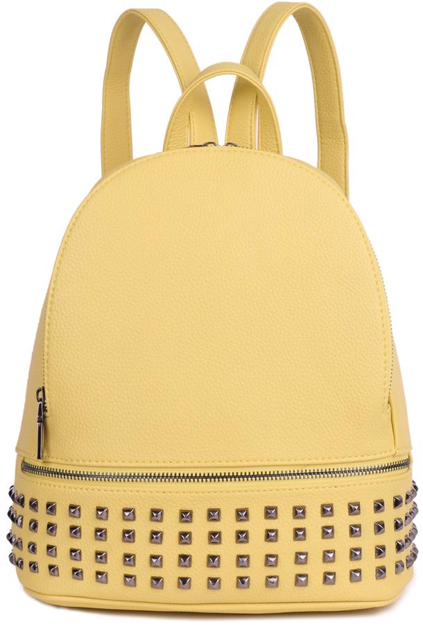 Рюкзак женский OrsOro, цвет: желтый, 26 x 30 x 11 см. DS-860/2
