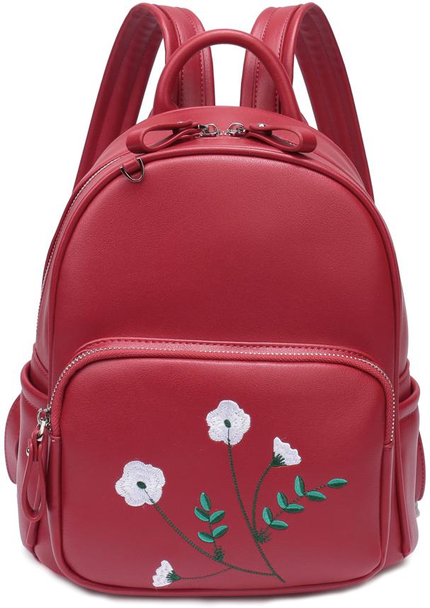 Рюкзак женский OrsOro, цвет: красный, 22 x 28 x 13 см. DS-850/2 цена