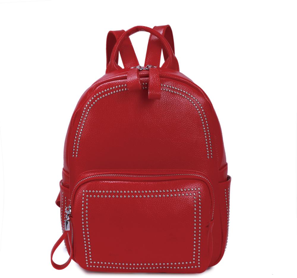 Рюкзак женский OrsOro, цвет: красный, 23 x 28 x 11 см. DS-876/2