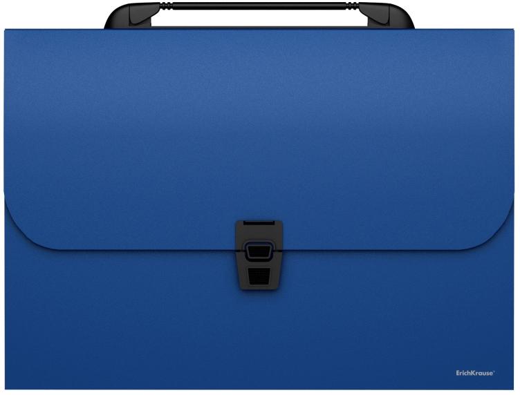 Erich Krause Папка-портфель Classic 12 отделений формат A4 цвет синий портфель office point exclusive пластиковый картотека на 12 отделений