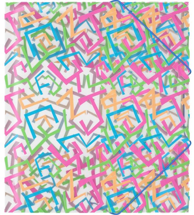 Erich Krause Папка на резинках Lines формат A5+45339Практичная папка на резинках Erich Krause пригодится в каждом офисе для хранения документов.Ее обложка выполнена из пластика. Папка надежно закрывается при помощи угловых резинок.Благодаря использованию качественных материалов, безупречных технологий обработки ивысокой функциональности, эти стильные изделия выдержат даже самый напряженный рабочийдень.