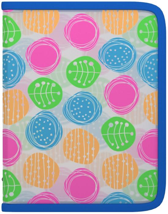 Erich Krause Папка на молнии Buttons формат A5+45352Формат А5+; Дизайн Buttons; Толщина - 0,55мм; материал - полипропилен; тиснение - песок; тип фиксации - молния