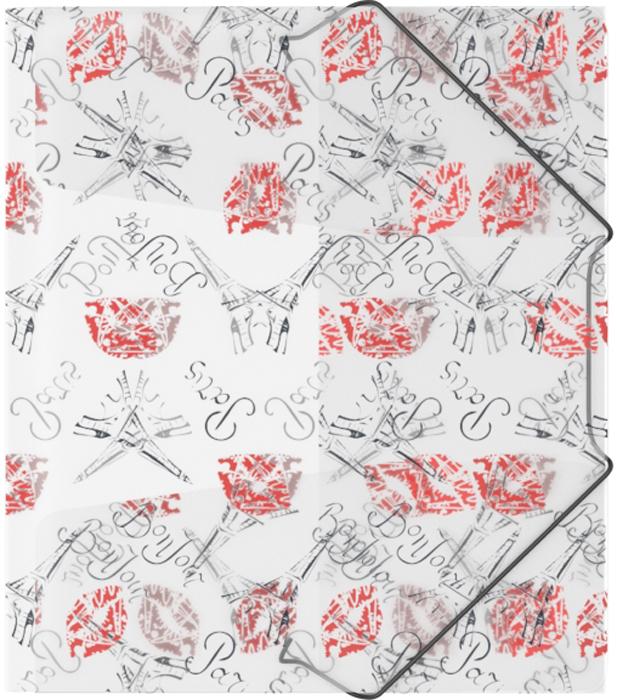 Erich Krause Папка на резинках Bonjour формат A5+45444Формат А5+; Дизайн Bonjour; Толщина - 0,55мм; материал - полипропилен; тиснение - песок; тип фиксации - резинка