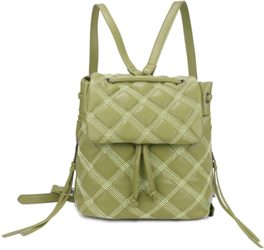 Рюкзак женский OrsOro, цвет: оливковый, 20 x 20 x 13 см. DS-881/4