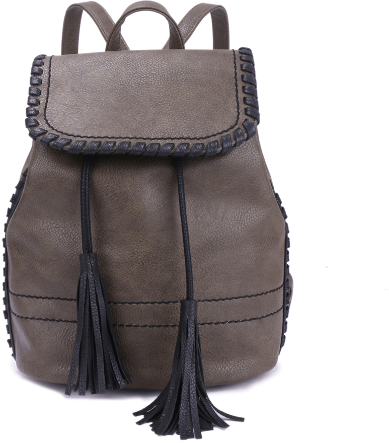 Рюкзак женский OrsOro, цвет: оливковый, 23 x 23 x 14 см. DS-880/2