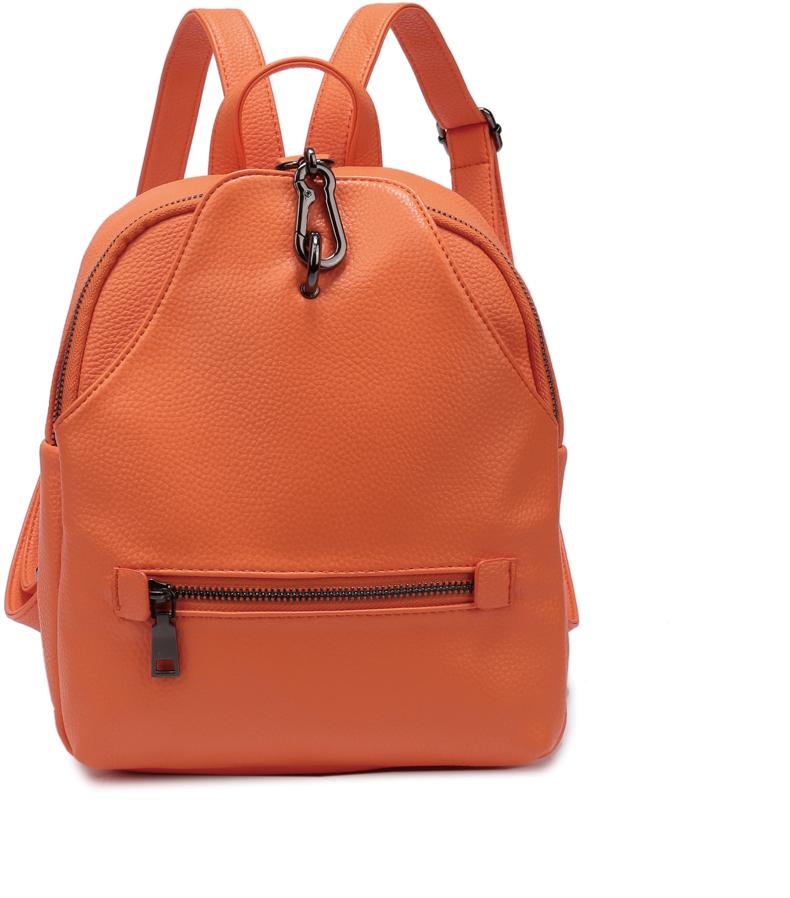 Рюкзак женский OrsOro, цвет: оранжевый, 23 x 26 x 10 см. DS-856/3