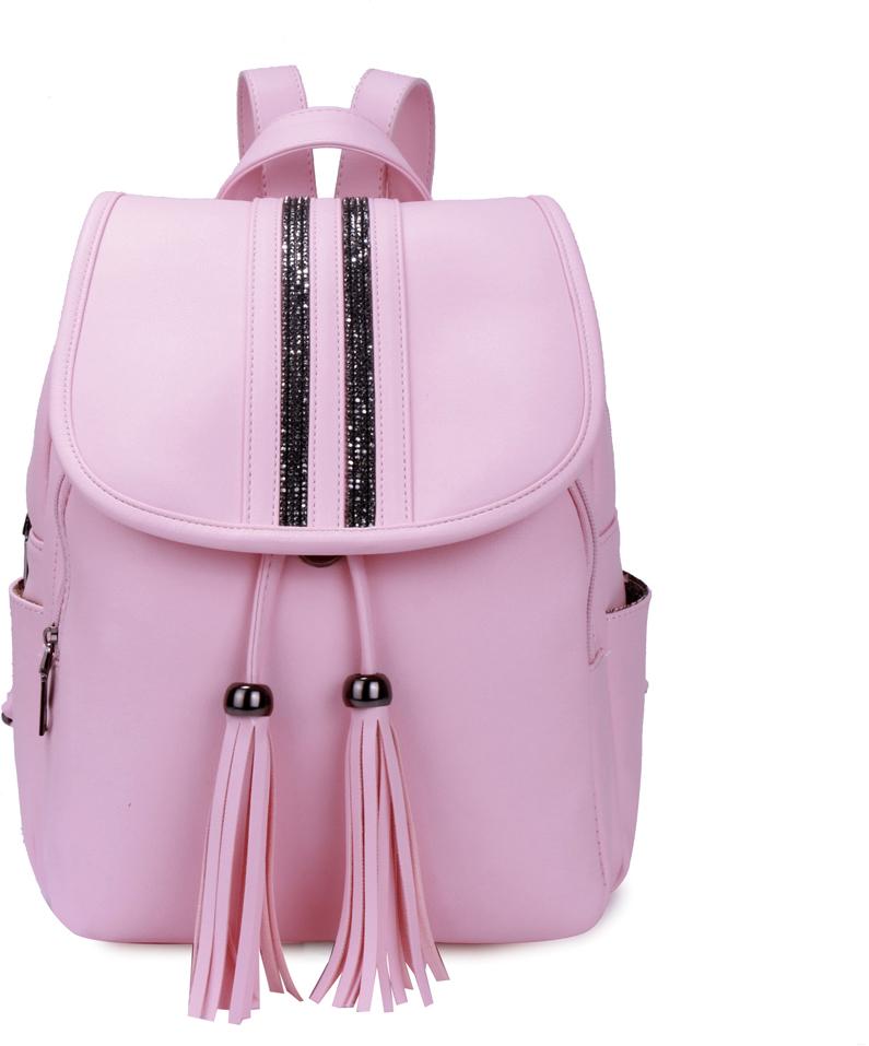 Рюкзак женский OrsOro, цвет: розовый, 26 x 33 x 14 см. DS-875/4