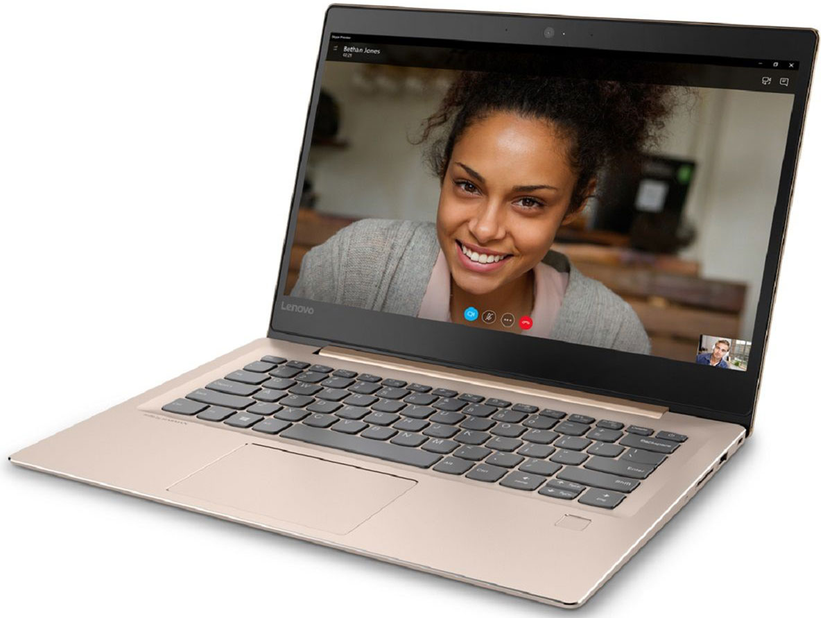 Lenovo IdeaPad 520S-14IKB, Gold (80X2000VRK)80X2000VRKТонкий и легкий 14-дюймовый ноутбук Lenovo IdeaPad 520S позволяет тебе эффективно работать иразвлекаться, где бы ты ни находился. Ультрамобильный мощный ноутбук Lenovo IdeaPad 520S отлично подойдет для работы, развлечений и игр впоездках. IdeaPad 520S на 20 процентов тоньше и на 30 процентов легче большинства ноутбуков в своем классе.Высокопроизводительный, многофункциональный процессор Intel Core i7-7500U открывает качественно новые возможности для работы,творчества и развлечений. Разбуди свою фантазию и раздвинь границы возможного при помощи ОС Windows 10, дополненной процессоромIntel Core седьмого поколения.Два динамика Harman обеспечивают отличный звук при просмотре фильмов ипрослушивании музыки. Если нужно расслабиться - просто включи и наслаждайся звуком.До трех раз более высокая (по сравнению с традиционной) скорость Wi-Fi 802.11 a/c ноутбука IdeaPad 520Sпозволит тебе путешествовать по просторам Интернета, слушать музыку или смотреть фильмы и общаться сдрузьями быстрее, чем когда-либо.С SSD емкостью 256 ГБ тебе не придется беспокоиться о том, где хранить свои данные, видео, музыку ифотографии.Точные характеристики зависят от модификации.Ноутбук сертифицирован EAC и имеет русифицированную клавиатуру и Руководство пользователя