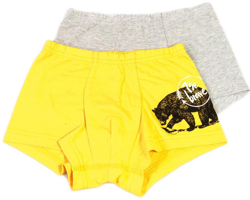 Трусы для мальчика Mark Formelle, цвет: серый, желтый, 2 шт. 1645-0. Размер 164