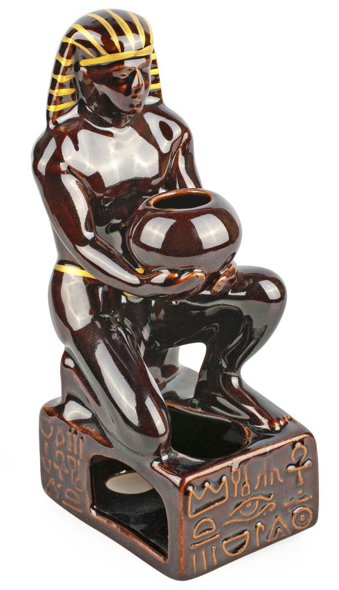 Аромалампа Египтянин, цвет: черный, 17 см аромалампа шар