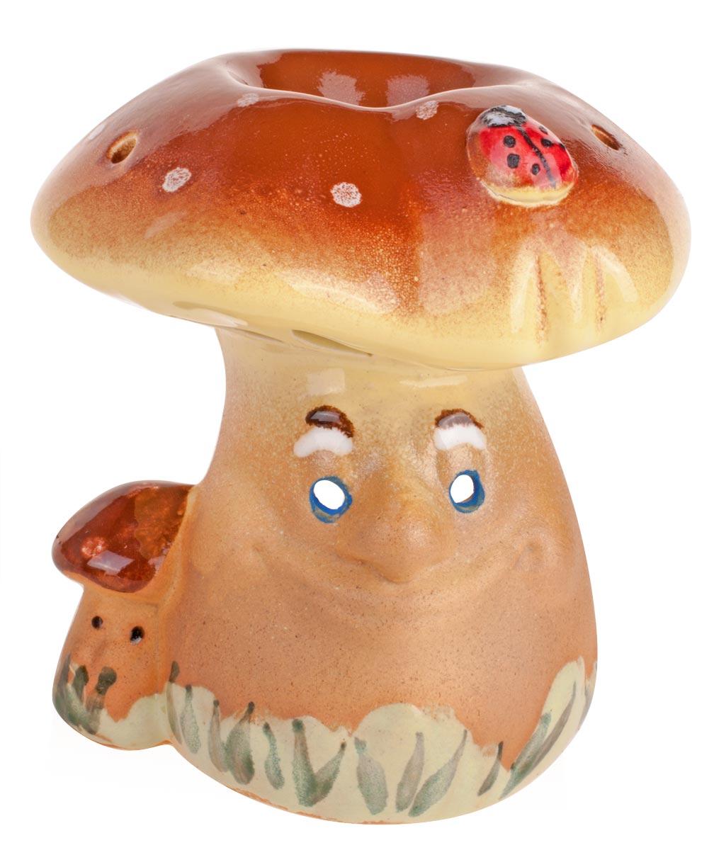 Аромалампа Гриб, цвет: мультиколор, 10 см14984Декоративный сосуд для ароматизации помещений эфирными маслами